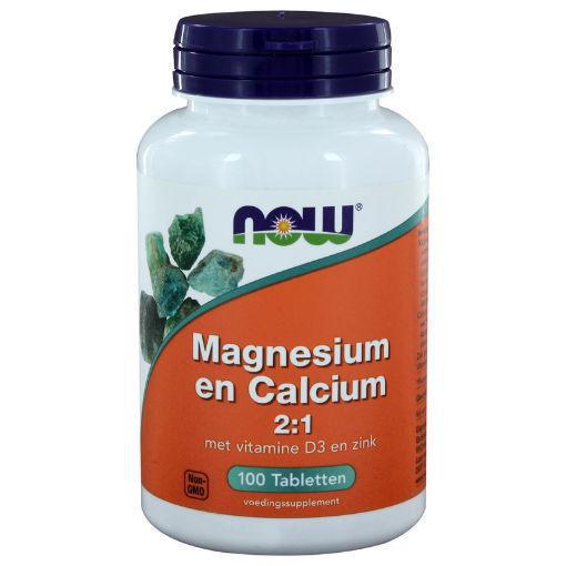 Now Magnesium calcium vitamine d 100tab