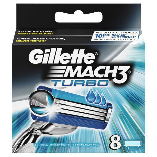 Gillette Mach3 turbo mesjes 8st