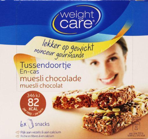Weight Care Tussendoortje Muesli-chocolade 6st