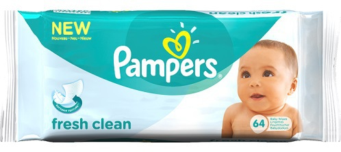 Pampers Babydoekjes baby fresh navul 64stuks