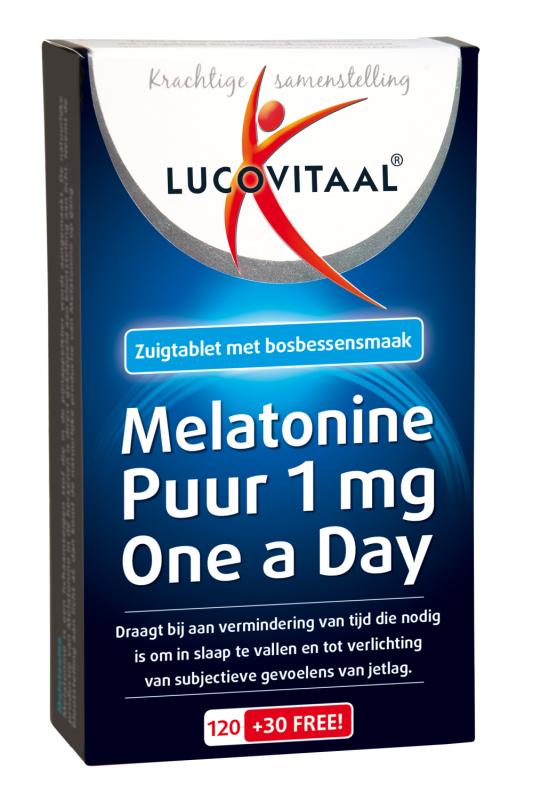 Lucovitaal Melatonine 1 mg 120+30
