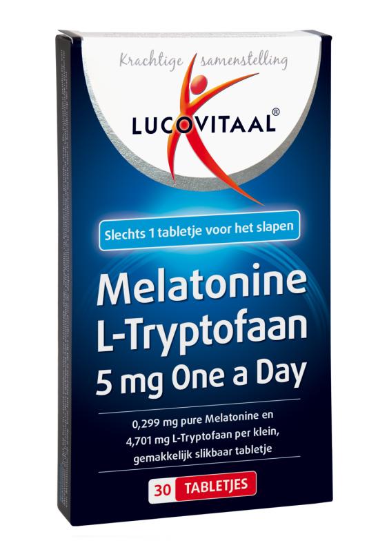 Lucovitaal Melatonine l-tryptofaan 5mg 30 tabletten