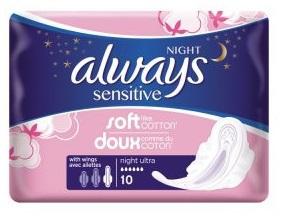 Always Sensitive maandverband ultra night 10st