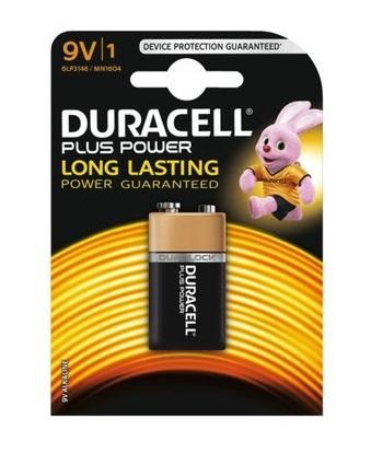 Batterij Duracell plus power 9volt mn1604