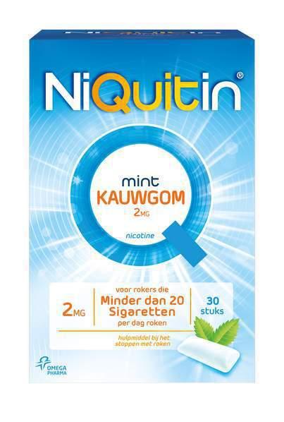 Niquitin Kauwgom 2 mg 30st