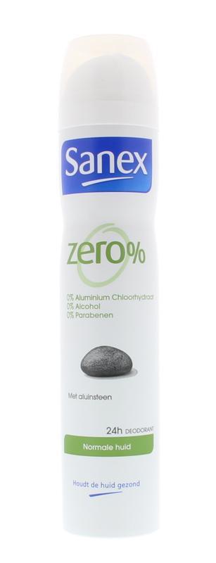 Sanex Deodorant Deospray Zero Normale Huid 200ml