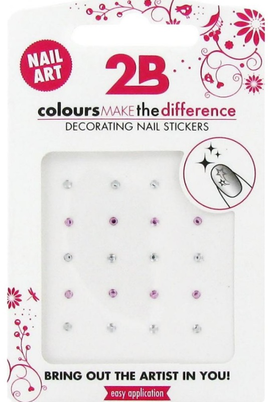 2b Nail sticker strass circle 1st