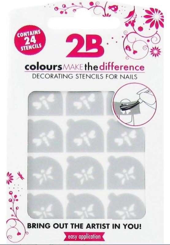 2b Nail art stencil 03 butterfly 1st