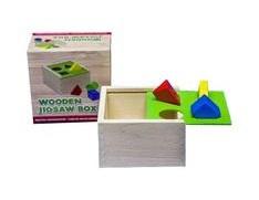 Drogist.nl Speelgoed vormenpuzzel hout doos 1st