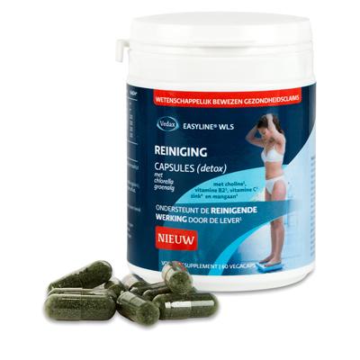 Easyline Wls reiniging (detox) capsules 60vc