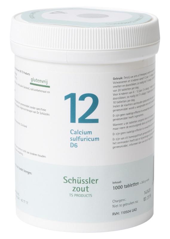 Pfluger Schussler celzout 12 calcium sulfuricum d6 1000t