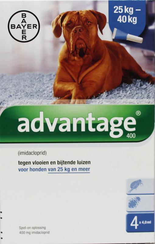 Advantage Hond 400 bestrijding vlo 25 kilo 4st