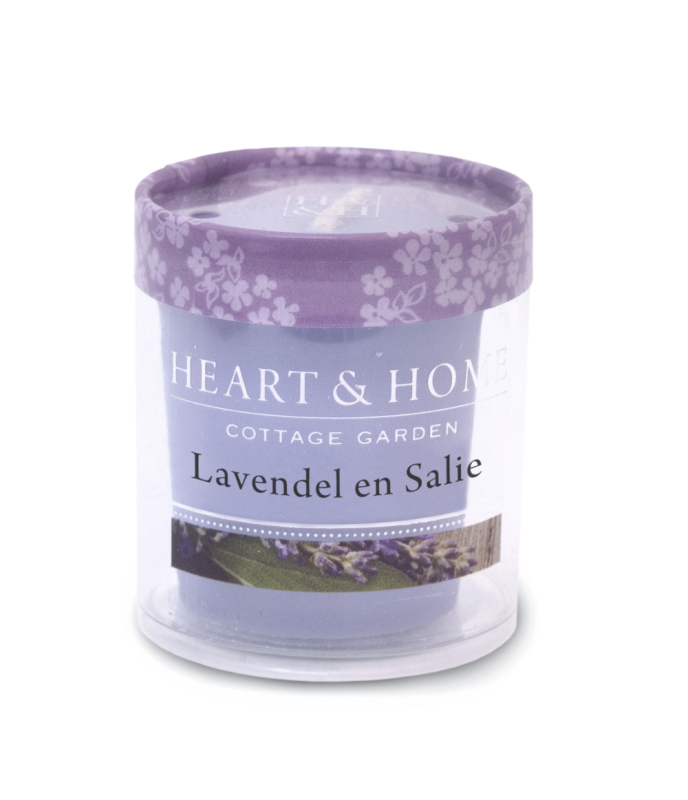 Heart & Home Votive - lavendel en salie 1st