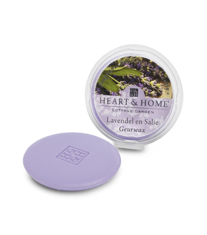 Heart & Home Geurwax - lavendel en salie 1st