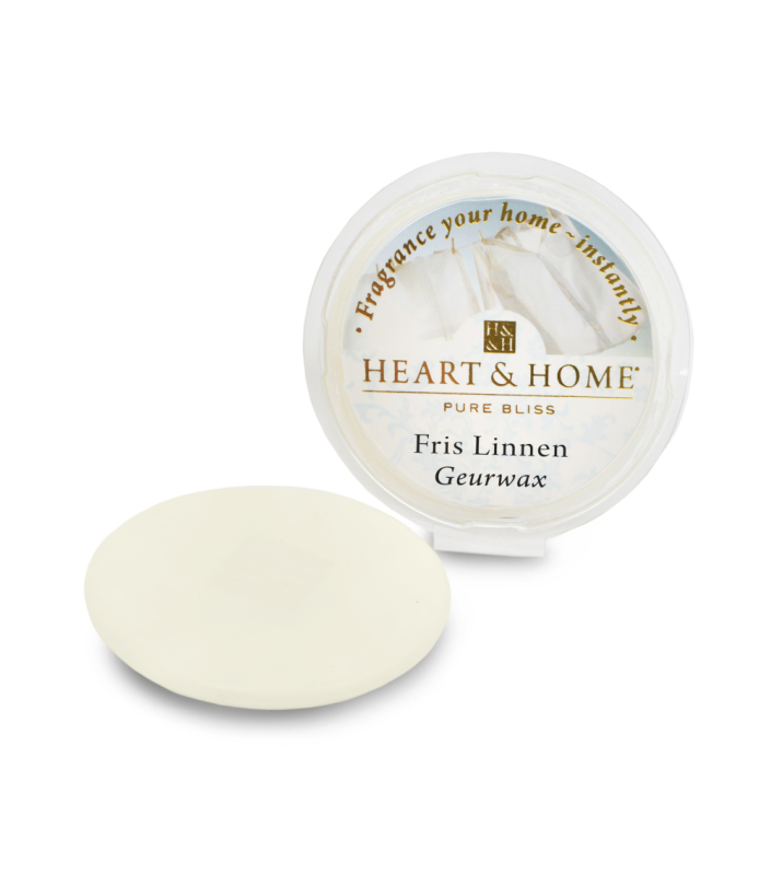 Heart & Home Geurwax - fris linnen 1st
