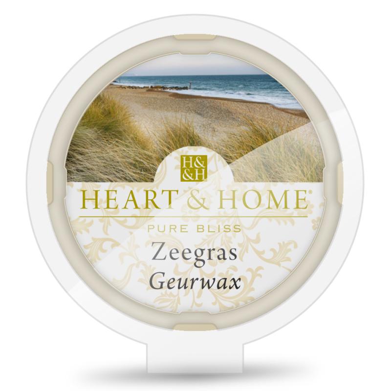 Heart & Home Geurwax- zeegras 1st