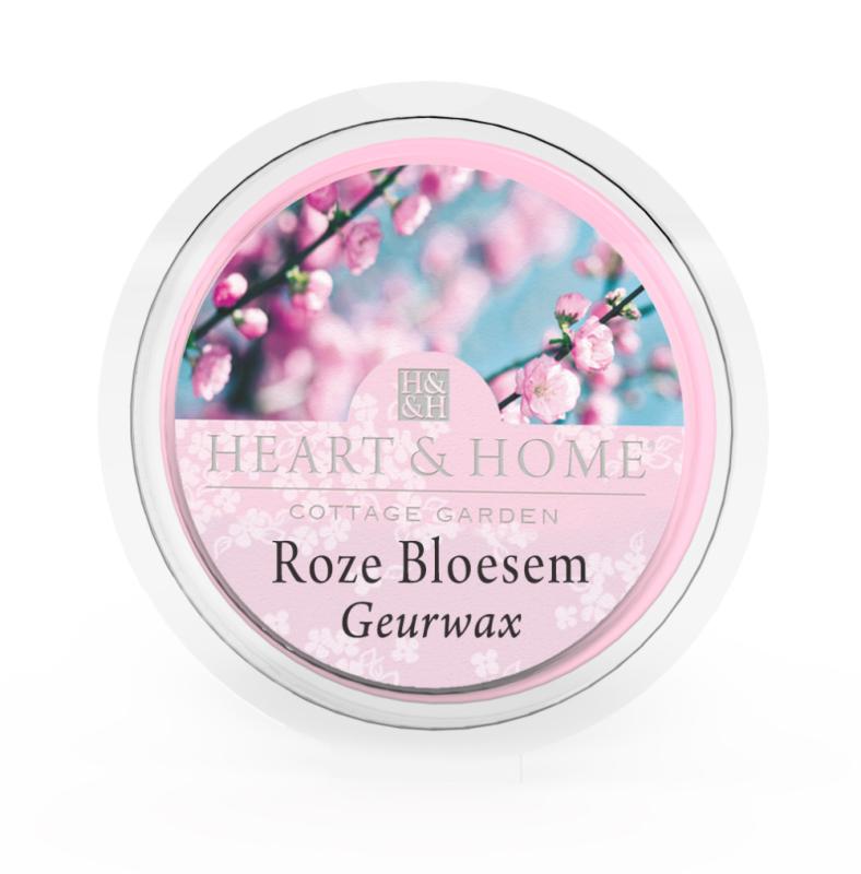 Heart & Home Geurwax - roze bloesem 1st