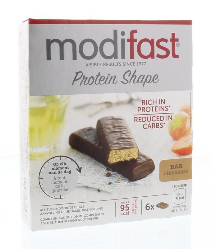 Modifast Protiplus Reep Chocolade 6st