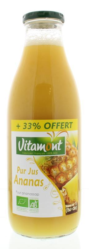 Vitamont Pure ananassap 33% gratis bio 1000ml