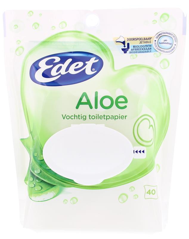 Edet Vochtig Toiletpapier.Vochtig Toiletpapier Gentle Aloe