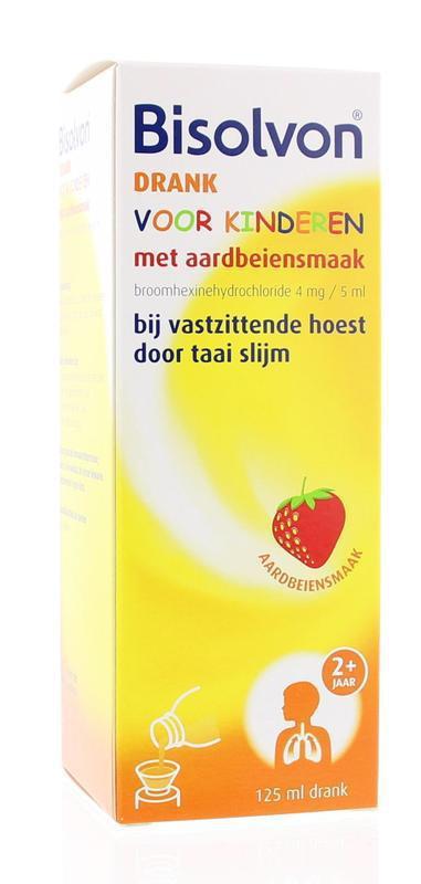 Bisolvon Hoestdrank Voor Kinderen Aardbeiensmaak 125ml