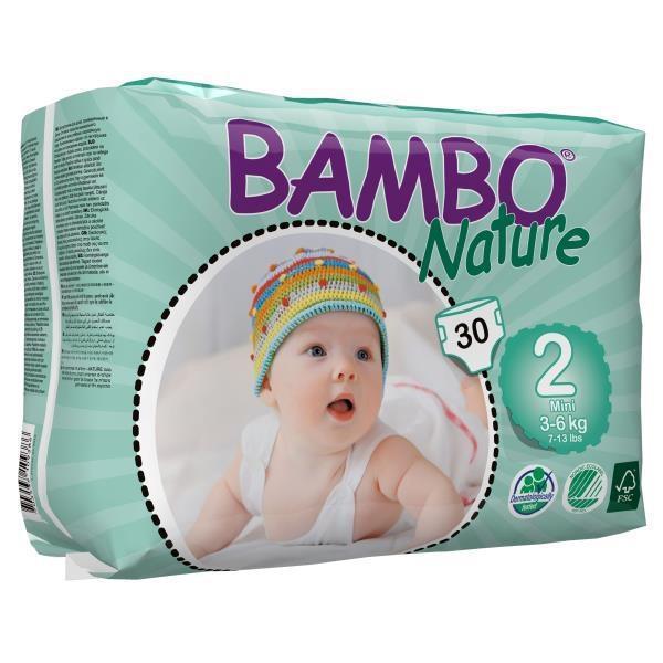 Afbeelding van Bambo Babyluiers mini 2 3 6kg 30stuks
