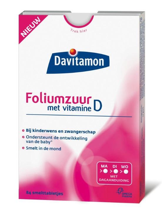 Davitamon Foliumzuur Met Vitamine D Bestel Bij Drogistnl