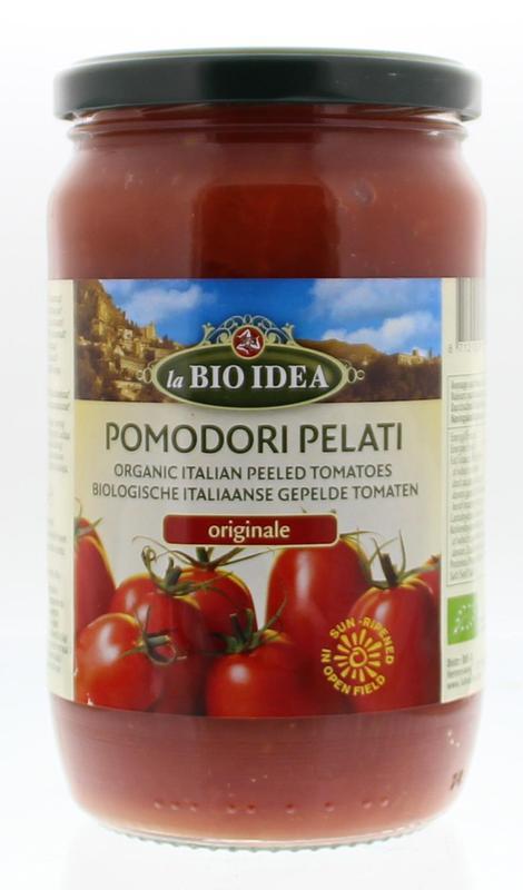 bioidea tomaten gepeld glas 660g voordelig online kopen. Black Bedroom Furniture Sets. Home Design Ideas