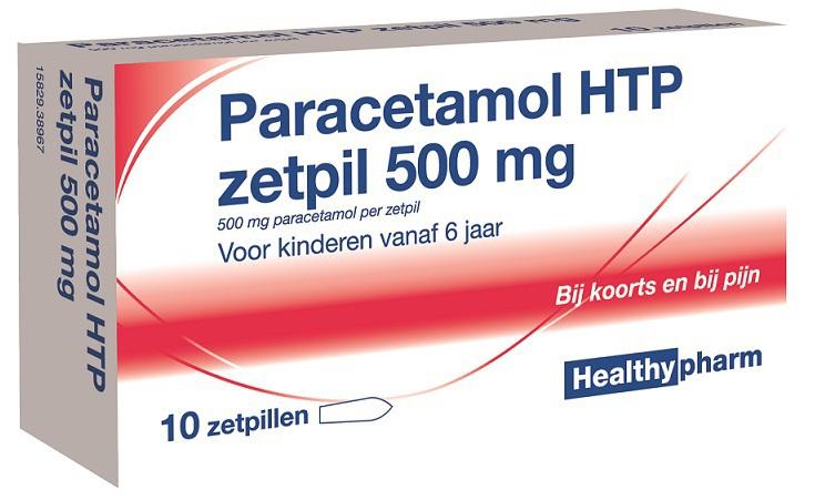 Healthypharm Paracetamol Zetpil 500mg 10zp Voordelig Online