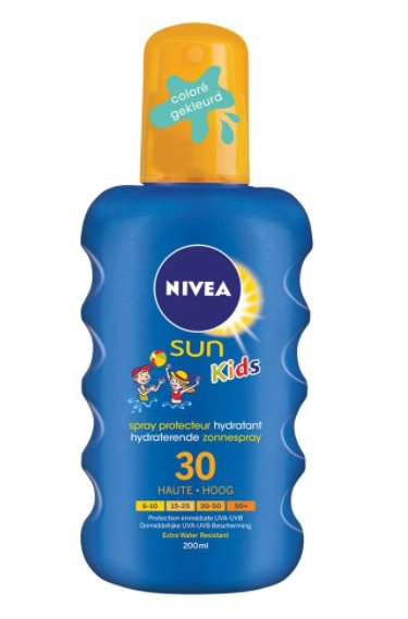 Nivea Sun Zonnebrand Children Spray Gekleurd Factor(spf)30 Waterproof 200ml