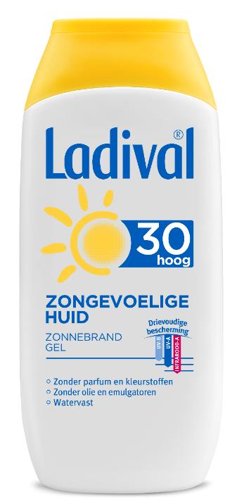 Ladival Zonnebrand gel zongevoelige huid spf 30 200 ml